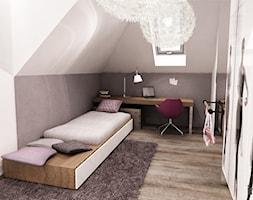 REZYDENCJA POD KRAKOWEM - Mały biały szary pokój dziecka dla dziewczynki dla nastolatka, styl nowoczesny - zdjęcie od Insidelab