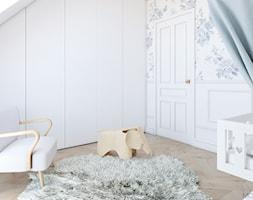 Miedziany akcent - Średni biały pokój dziecka dla chłopca dla dziewczynki dla niemowlaka, styl skandynawski - zdjęcie od MOBO