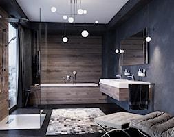 KLUDI AMEO - Średnia łazienka w bloku w domu jednorodzinnym z oknem, styl industrialny - zdjęcie od KLUDI