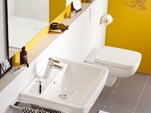 KLUDI PURE&EASY - Mała biała żółta łazienka w bloku w domu jednorodzinnym bez okna, styl eklektyczny - zdjęcie od KLUDI