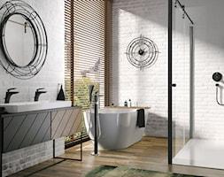 KLUDI BALANCE BLACK - Duża biała łazienka w bloku w domu jednorodzinnym z oknem, styl industrialny - zdjęcie od KLUDI - Homebook