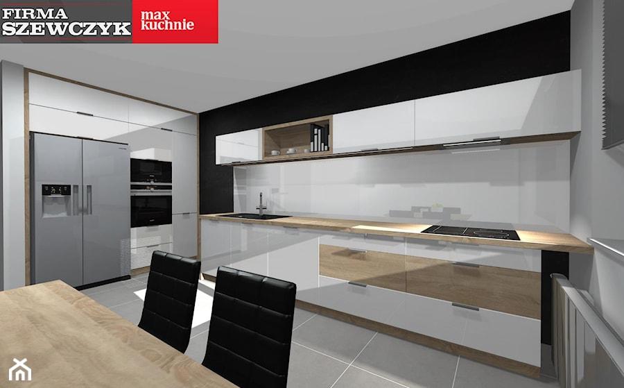 zabudowa kuchni w dwóch częściach - Kuchnia, styl nowoczesny - zdjęcie od Firma Szewczyk - salon ...