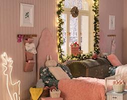 Dekoracje świąteczne - Średni różowy pokój dziecka dla chłopca dla dziewczynki dla rodzeństwa dla malucha, styl tradycyjny - zdjęcie od Leroy Merlin