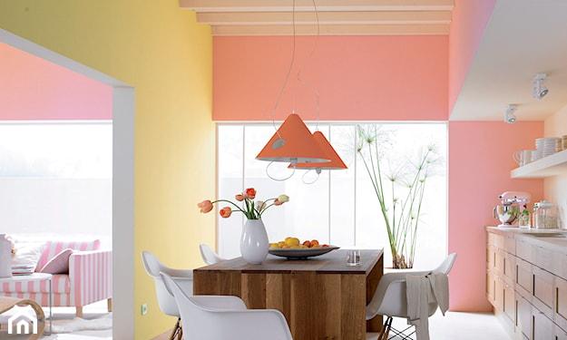 kolorowe ściany, żółta ściana, pomarańczowa ściana