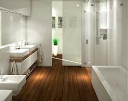Łazienka na poddaszu - zdjęcie od Karolina Krac projektowanie wnętrz