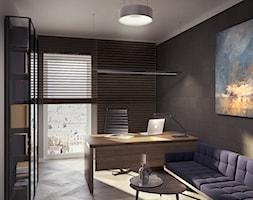 KANCELARIA ADWOKACKA - Duże szare biuro domowe w pokoju, styl nowoczesny - zdjęcie od squat architekci