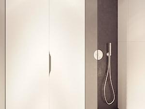 KANCELARIA ADWOKACKA - Mała biała łazienka w bloku w domu jednorodzinnym bez okna, styl nowoczesny - zdjęcie od squat architekci
