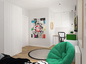 MIESZKANIE W ŁODZI 115m2 - Duży szary pokój dziecka dla chłopca dla dziewczynki dla ucznia dla nastolatka, styl skandynawski - zdjęcie od squat architekci