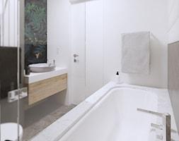 APARTAMENT W ŁODZI - WILLE JANA - Średnia biała łazienka w bloku w domu jednorodzinnym bez okna, styl eklektyczny - zdjęcie od squat architekci