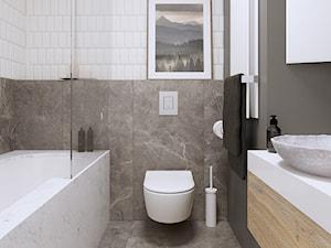 APARTAMENT W ŁODZI - WILLE JANA - Średnia szara łazienka w bloku w domu jednorodzinnym bez okna, styl eklektyczny - zdjęcie od squat architekci