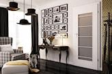 Wewnętrzne białe drzwi przeszklone, drzwi do wnętrza w stylu retro
