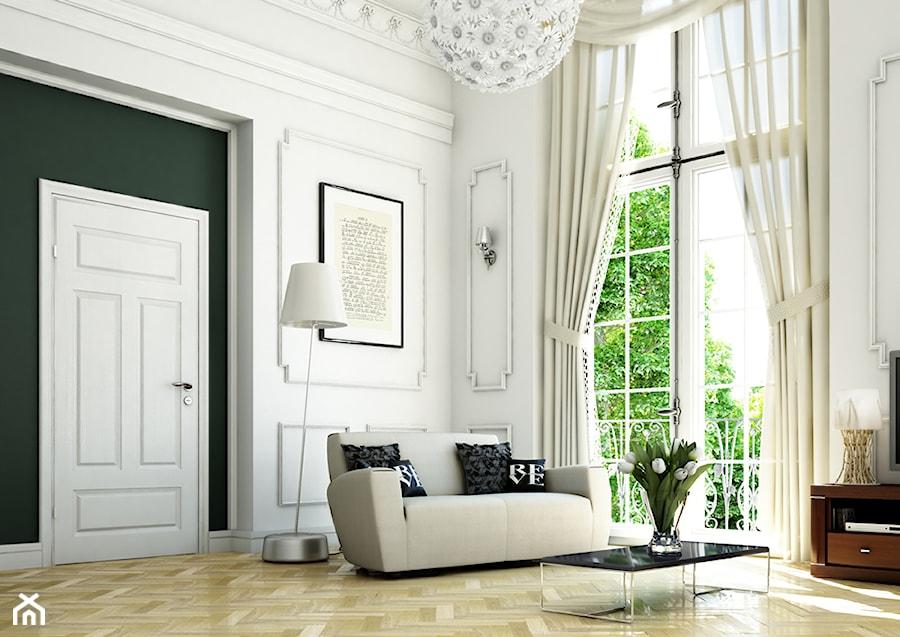 Drzwi wewnętrzne - Salon, styl eklektyczny - zdjęcie od POL-SKONE