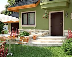 Drzwi zewnętrzne - Mały ogród przed domem - zdjęcie od POL-SKONE