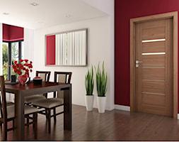 Drzwi wewnętrzne - Średnia zamknięta biała czerwona jadalnia jako osobne pomieszczenie - zdjęcie od POL-SKONE