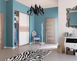 Drzwi wewnętrzne - Średni turkusowy hol / przedpokój - zdjęcie od POL-SKONE