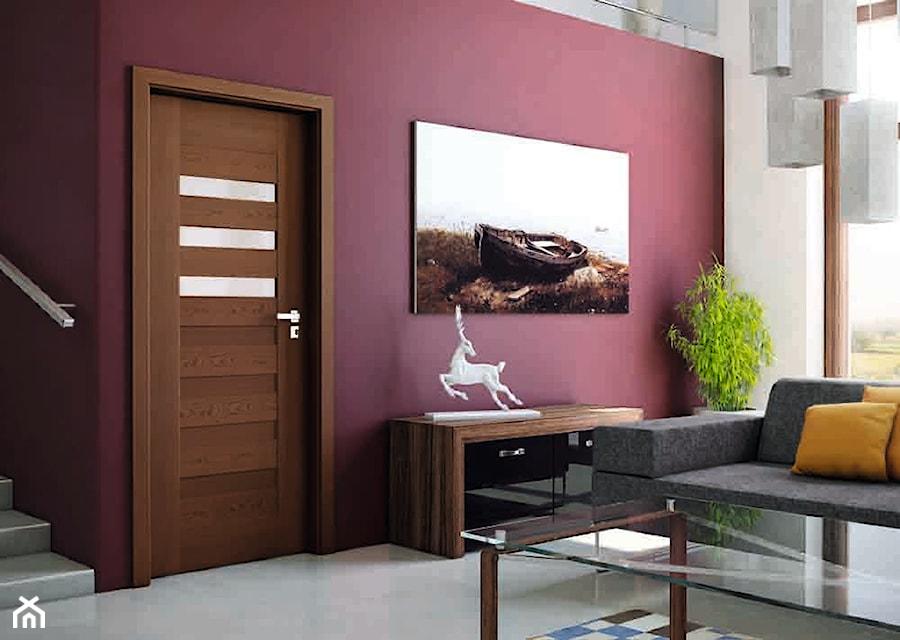 Aranżacje wnętrz - Salon: Drzwi wewnętrzne - Salon, styl tradycyjny - POL-SKONE. Przeglądaj, dodawaj i zapisuj najlepsze zdjęcia, pomysły i inspiracje designerskie. W bazie mamy już prawie milion fotografii!