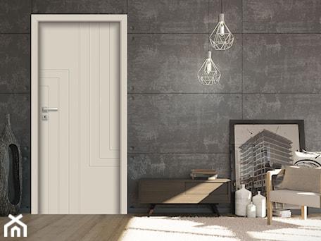 Aranżacje wnętrz - Salon: Drzwi wewnętrzne - Salon, styl industrialny - POL-SKONE. Przeglądaj, dodawaj i zapisuj najlepsze zdjęcia, pomysły i inspiracje designerskie. W bazie mamy już prawie milion fotografii!