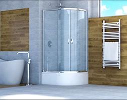 kabina prysznicowa asymetryczna niska - zdjęcie od Sea-Horse Łazienka w dobrym stylu - Homebook