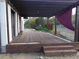 Zabudowa tarasu - Patio etap II - zdjęcie od Bryniak Woodworking