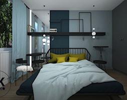 Sypialnia w błękitach - zdjęcie od ŻKstudio Żaneta Kiernozek