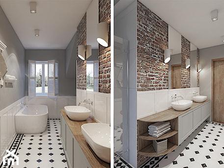 Aranżacje wnętrz - Łazienka: Dom w Rumi - Średnia łazienka w domu jednorodzinnym z oknem, styl rustykalny - studiokreatura. Przeglądaj, dodawaj i zapisuj najlepsze zdjęcia, pomysły i inspiracje designerskie. W bazie mamy już prawie milion fotografii!