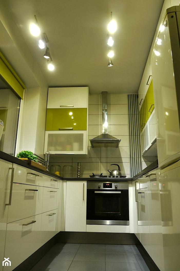 KUCHNIA RADZYMIN - Mała zamknięta beżowa kuchnia w kształcie litery u, styl nowoczesny - zdjęcie od Kamila Przybysz - Homebook