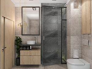 Cz_02 - Mała łazienka w bloku w domu jednorodzinnym bez okna, styl nowoczesny - zdjęcie od InSign Aranżacje i projekty wnętrz