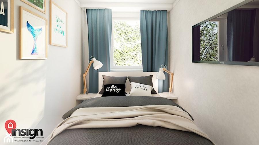 RuSL_03 - Mała biała sypialnia małżeńska, styl skandynawski - zdjęcie od InSign Aranżacje i projekty wnętrz