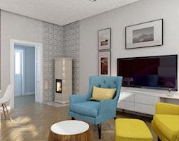 GLI_01 - Mały biały salon z jadalnią, styl tradycyjny - zdjęcie od InSign Aranżacje i projekty wnętrz