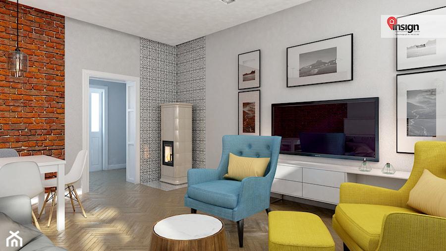 Aranżacje wnętrz - Salon: GLI_01 - Mały biały salon z jadalnią, styl tradycyjny - InSign Aranżacje i projekty wnętrz. Przeglądaj, dodawaj i zapisuj najlepsze zdjęcia, pomysły i inspiracje designerskie. W bazie mamy już prawie milion fotografii!