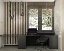 WAR_01 - Małe czarne białe biuro kącik do pracy, styl nowoczesny - zdjęcie od InSign Aranżacje i projekty wnętrz
