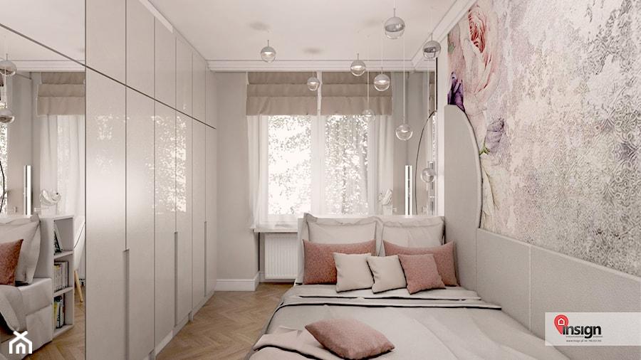GLI_02 - Mała szara sypialnia małżeńska, styl art deco - zdjęcie od InSign Aranżacje i projekty wnętrz