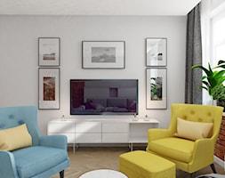 GLI_01 - Mały biały salon, styl tradycyjny - zdjęcie od InSign Aranżacje i projekty wnętrz