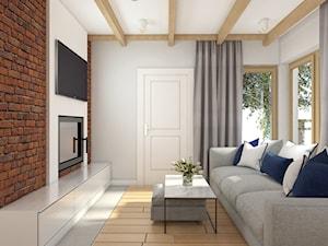 Wy_01 - Mały szary salon, styl industrialny - zdjęcie od InSign Aranżacje i projekty wnętrz