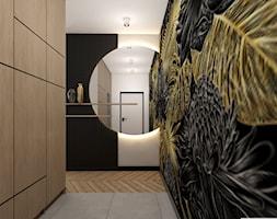 KAT_06 - Średni czarny szary hol / przedpokój, styl nowoczesny - zdjęcie od InSign Aranżacje i projekty wnętrz