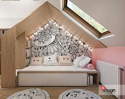 Sos_01 - Mały biały różowy pokój dziecka dla dziewczynki dla malucha dla nastolatka, styl nowoczesny - zdjęcie od InSign Aranżacje i projekty wnętrz