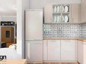 Ryb_01 - Średnia otwarta biała kuchnia w kształcie litery l w aneksie, styl nowoczesny - zdjęcie od InSign Aranżacje i projekty wnętrz