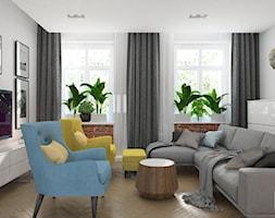 GLI_01 - Średni biały salon, styl tradycyjny - zdjęcie od InSign Aranżacje i projekty wnętrz