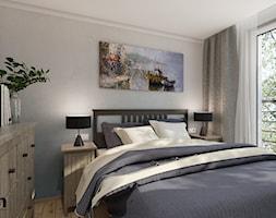 MYS_02 - Mała szara sypialnia małżeńska, styl tradycyjny - zdjęcie od InSign Aranżacje i projekty wnętrz