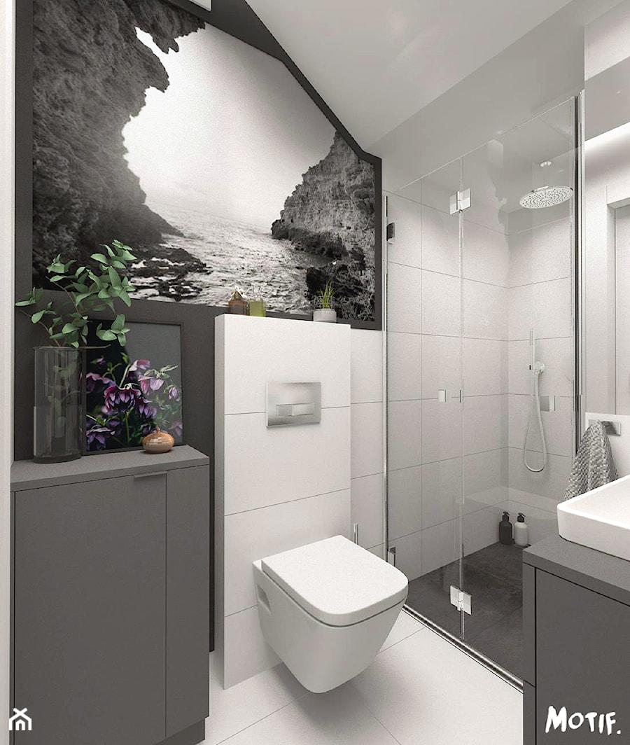 Metamorfoza Małej łazienki Mała Biała Czarna łazienka Na