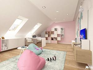 PO PROSTU UROCZO! - Duży szary beżowy pastelowy różowy pokój dziecka dla dziewczynki dla malucha, styl skandynawski - zdjęcie od MOTIF