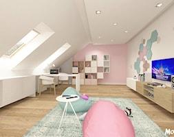 PO PROSTU UROCZO! - Duży pastelowy miętowy różowy pokój dziecka dla dziewczynki dla malucha, styl skandynawski - zdjęcie od MOTIF