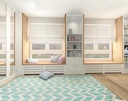 POKÓJ DZIECIĘCY W STYLU SKANDYNAWSKIM - Średni biały szary pokój dziecka dla chłopca dla dziewczynki ... - zdjęcie od MOTIF - Homebook