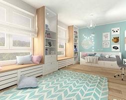 POKÓJ DZIECIĘCY W STYLU SKANDYNAWSKIM - Duży niebieski pokój dziecka dla chłopca dla dziewczynki dla ... - zdjęcie od MOTIF - Homebook