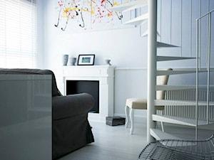 29 m2 - Mały szary salon, styl eklektyczny - zdjęcie od Bogaczewicz Architecture Studio