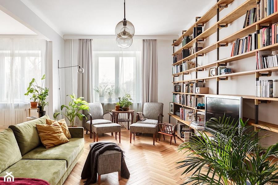 mieszkanie na Starej Ochocie - Salon, styl vintage - zdjęcie od Bogaczewicz Architecture Studio