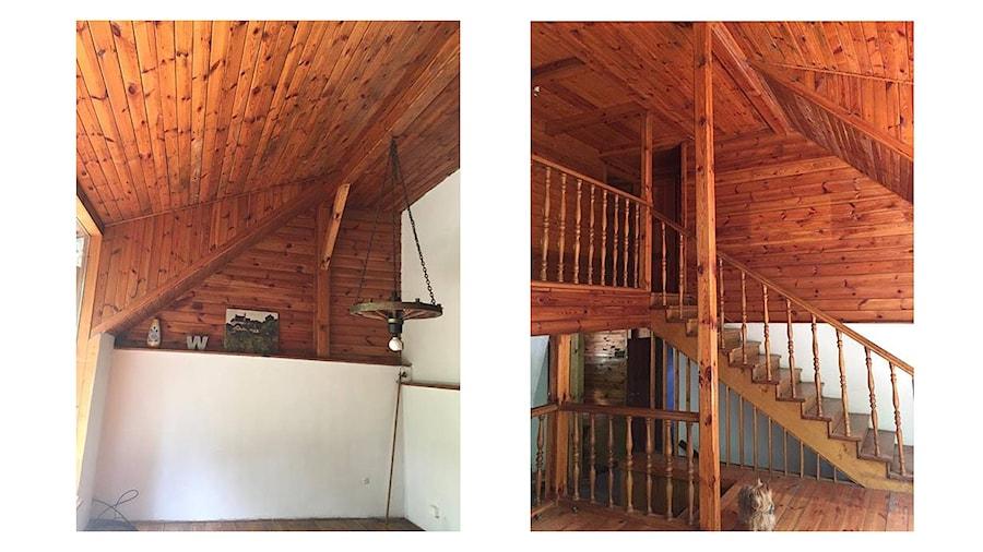 Domek na wsi - Duży szary hol / przedpokój - zdjęcie od Bogaczewicz Architecture Studio