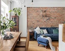 ALEJE UJAZDOWSKIE - Mały szary salon z kuchnią z jadalnią, styl eklektyczny - zdjęcie od Bogaczewicz Architecture Studio - Homebook