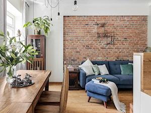 ALEJE UJAZDOWSKIE - Mały szary salon z kuchnią z jadalnią, styl eklektyczny - zdjęcie od Bogaczewicz Architecture Studio