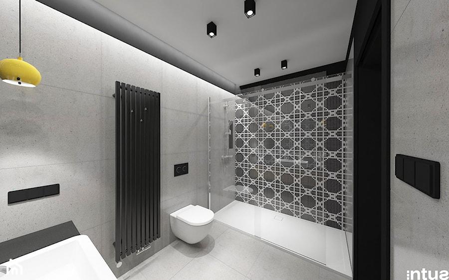 Aranżacje wnętrz - Łazienka: 'szalet' w górach - Mała łazienka w bloku w domu jednorodzinnym bez okna, styl nowoczesny - intusstudio. Przeglądaj, dodawaj i zapisuj najlepsze zdjęcia, pomysły i inspiracje designerskie. W bazie mamy już prawie milion fotografii!